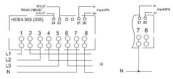 Схема счетчика се 303